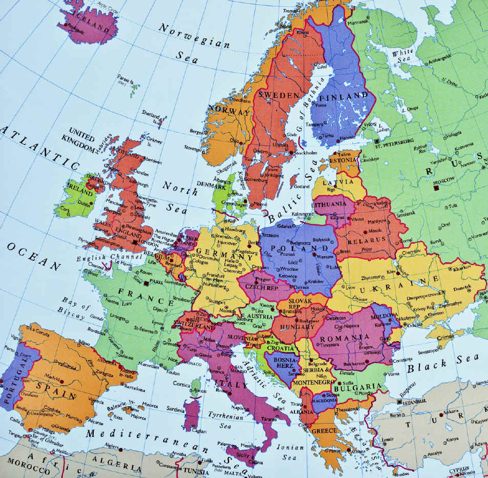 Maps Update 24002284 Map of Europe by Country Political Europe – Map of Europe